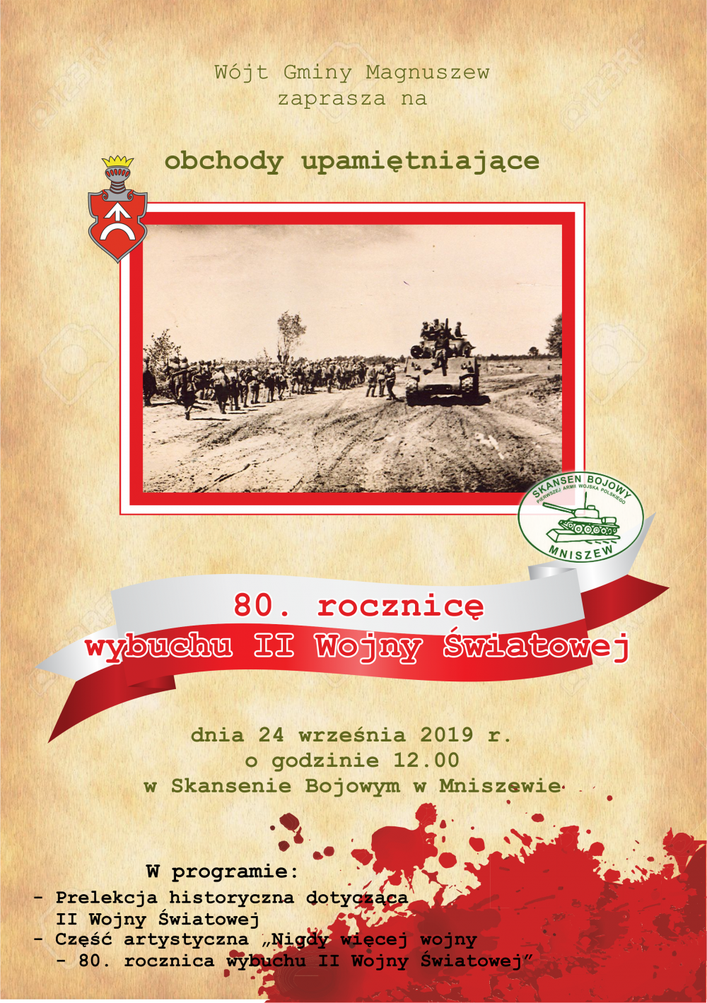 plakat rocznica II WŚ