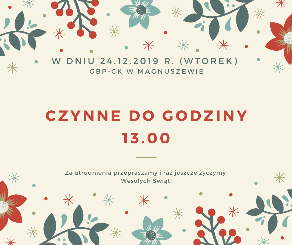 W dniu 24.12.2019 r. (wtorek)