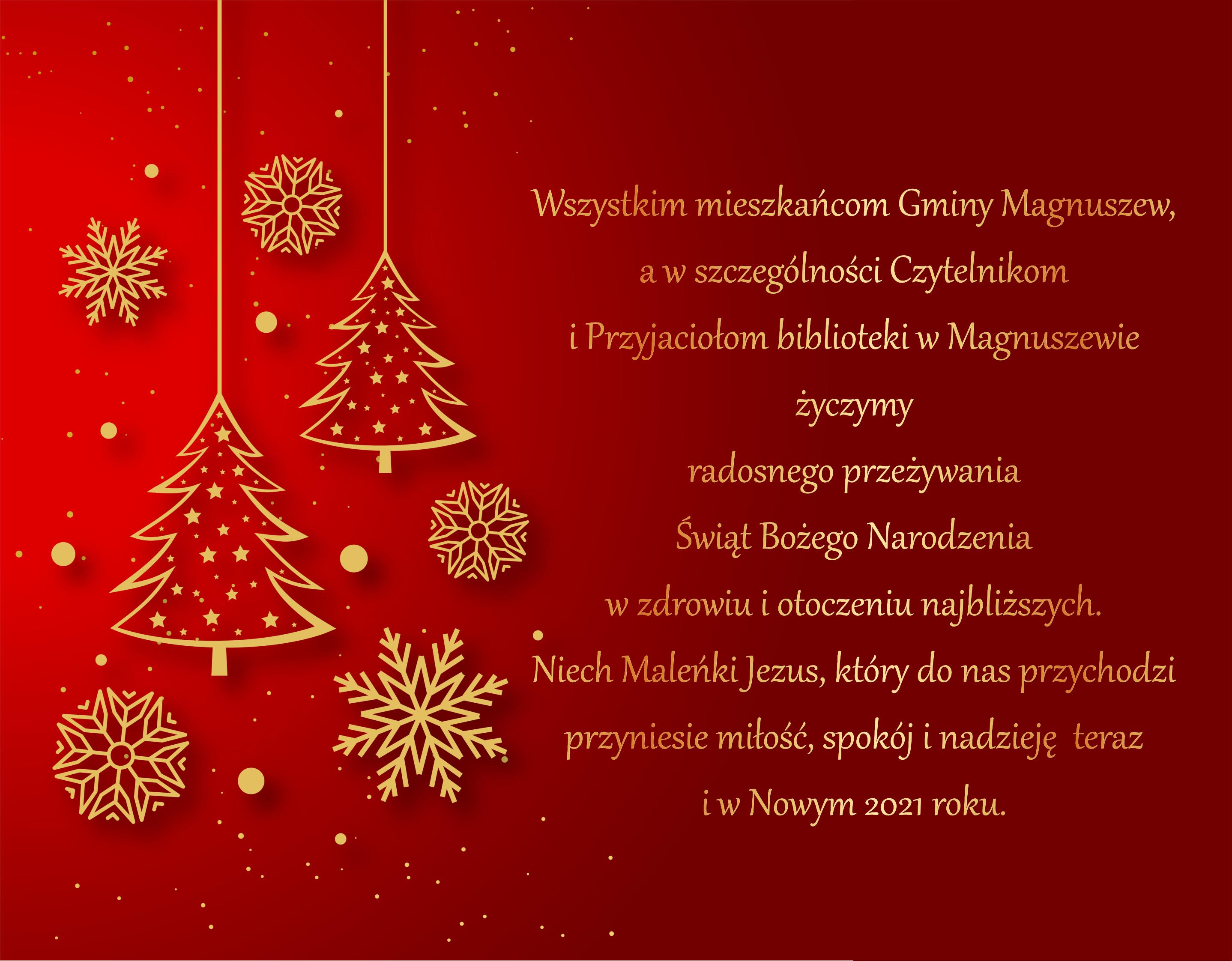 życzenia Boże Narodzenie 20203