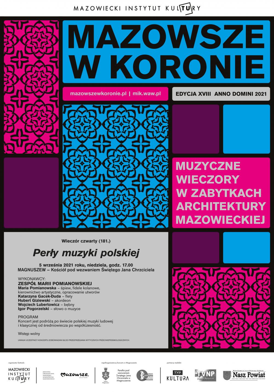 plakat_mazowsze w koronie_2021_magnuszew